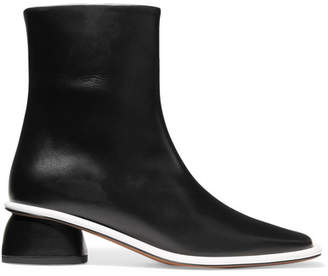 Neous - Sed Leather Ankle Boots - Black