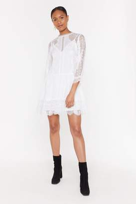 Nasty Gal Lace Smock Dress