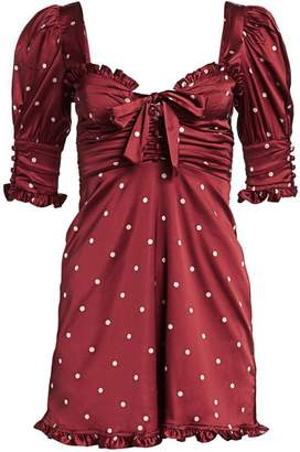 For Love & Lemons Davies Polka Dot Swing Dress