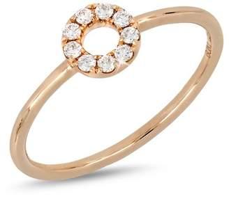 Bony Levy 18K Rose Gold Diamond Open Circle Ring