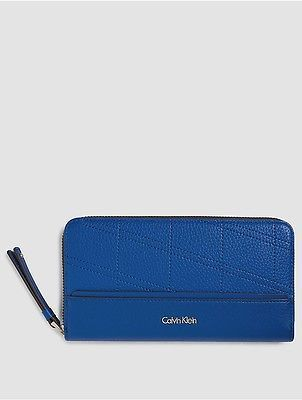 Calvin Klein Calvin Klein Womens Large Zip-Around Wallet Dazzling Blue