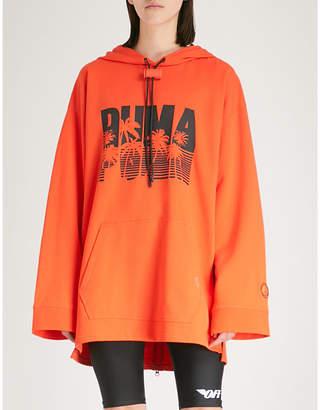 FENTY PUMA by Rihanna Logo-print oversized cotton-fleece hoody