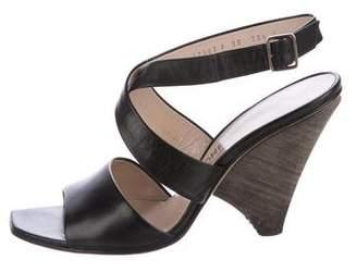 Salvatore Ferragamo Crossover Ankle Strap Sandals