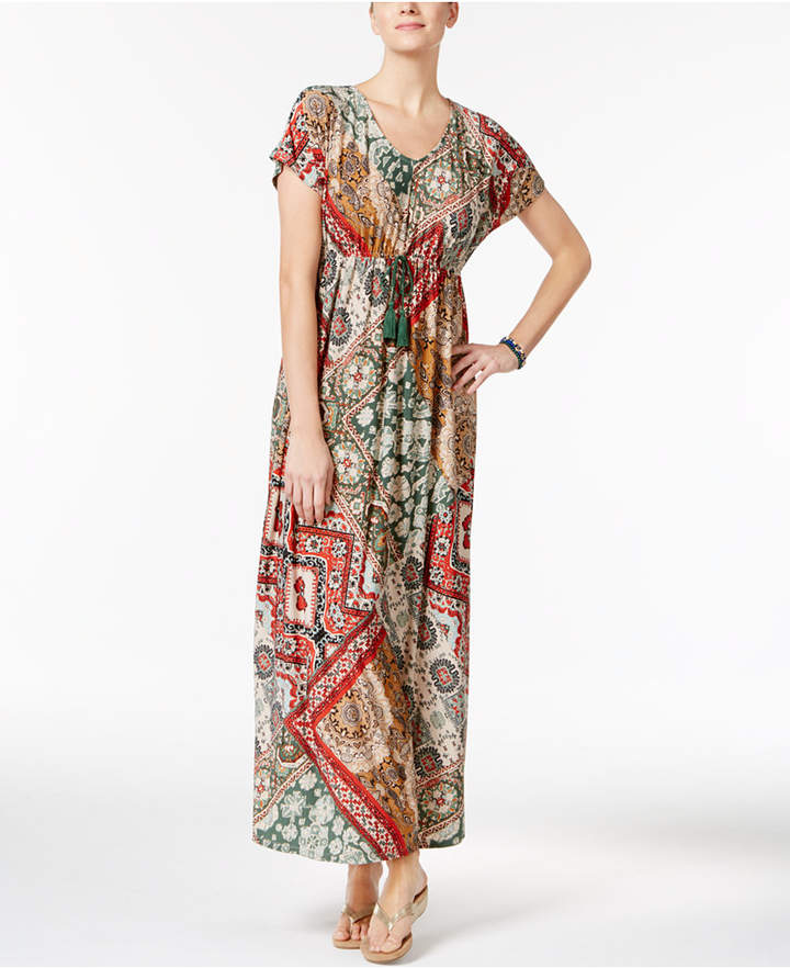 Style & Co Printed Maxi Dress, Only at Macy's