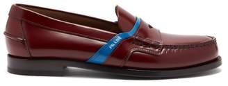 Prada Bi Colour Leather Loafers - Mens - Burgundy