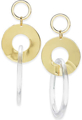 INC International Concepts I.N.C. Gold-Tone Triple Ring Drop Earrings, Created for Macy's