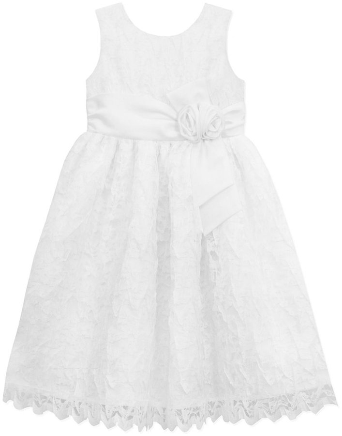 Jayne Copeland Little Girls' Lace Scalloped Flower Girl Dress