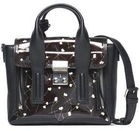3.1 Phillip Lim Woman Mini Floral-print Patent-leather Shoulder Bag Black Size 3.1 Phillip Lim dxnNPzrJ