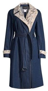Lafayette 148 New York Tandra Denim Trench Coat