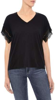 Joe's Jeans Millie Eyelet Trim Tee