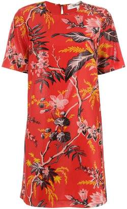 Diane von Furstenberg waxed floral print dress