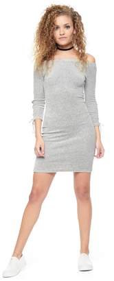 Juicy Couture Stretch Velour Off Shoulder Dress