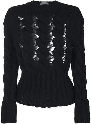 Philosophy di Lorenzo Serafini chunky knit mesh sweater