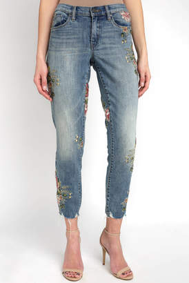 Blank NYC Secret Garden Exclusive Embroidered Skinny Jean