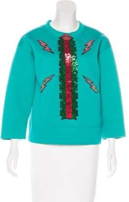 Gucci 2016 Embellished Neoprene Sweatshirt