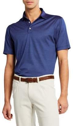Peter Millar Men's Easton Stripe Lisle Polo Shirt