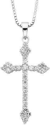 Silver Cross Diamond Splendor Crystal & Diamond Accent Sterling Pendant Necklace
