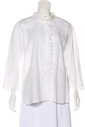 Burberry Long Sleeve Ruffled Top w/ Tags