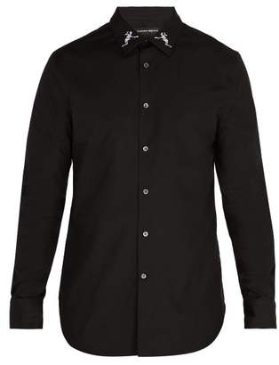 Alexander McQueen Dancing Skeleton Collar Shirt - Mens - Black