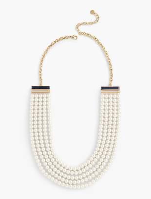Talbots Multi-Strand Pearl Necklace