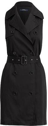 Polo Ralph Lauren Satin Sleeveless Dress $345 thestylecure.com