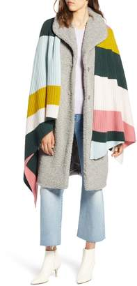 Halogen x Atlantic-Pacific Stripe Cashmere Wrap