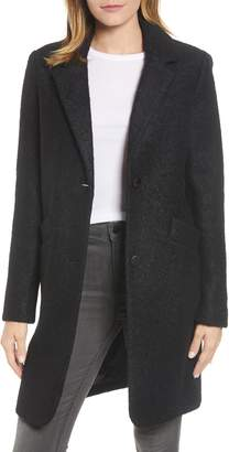 Andrew Marc Pressed Boucle Coat