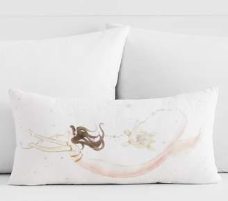 Pottery Barn Kids Painted Mermaid Lumbar Pillow, 12x24in, Multi