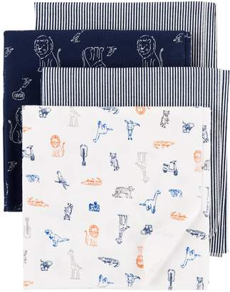 Carter's Baby Boy 4-Pack Print Flannel Receiving Blankets