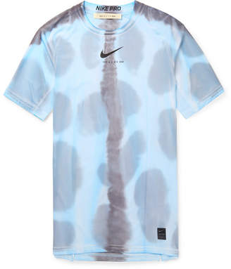 63fb82f4f21c Nike 1017 Alyx 9sm + Pro Mesh-Panelled Printed Stretch-Jersey T-Shirt