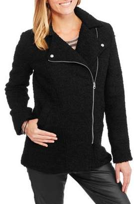 Moto Maxwell Studio Women's Boucle Asymmetrical Coat