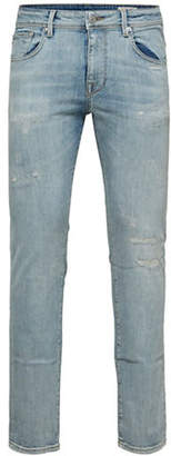Selected Distressed Slim Jeans