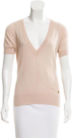 Dolce & GabbanaDolce & Gabbana Open Knit V-Neck Sweater