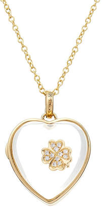 Loquet 14kt Heart Locket with 18kt Gold Charm and Diamonds