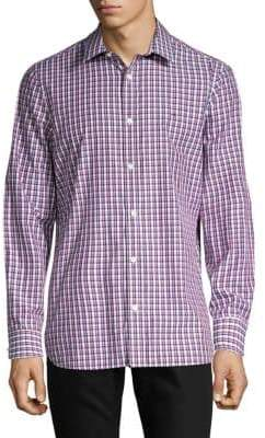 Calvin Klein Long-Sleeve Printed Classic-Fit Button-Down Shirt