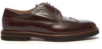 Tod's Polished Leather Brogues - Mens - Brown