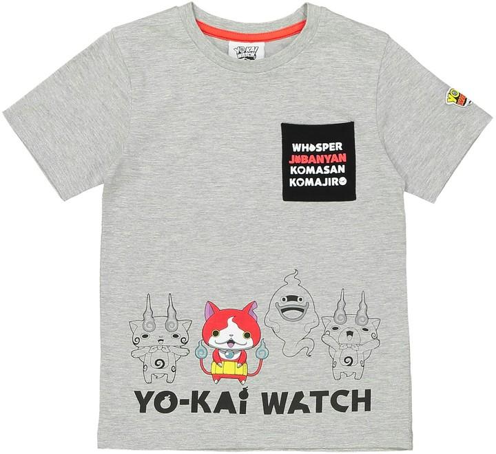 YO KAI WATCH Plain Short-Sleeved Crew Neck T-Shirt