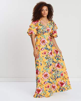 Vero Moda Frill Sleeve Floral Dress