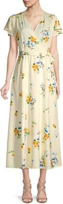 Haute Rogue Floral-Print Faux-Wrap Dress