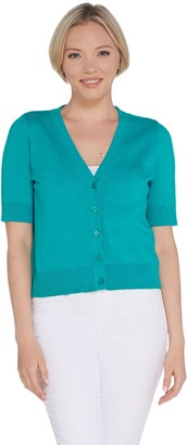 Isaac Mizrahi Live! Essentials Cropped Cardigan