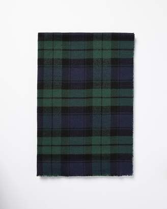 Express Green Plaid Woven Scarf
