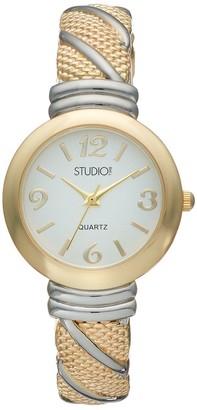 Studio Time Women's Two Tone Cuff Watch