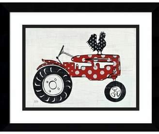 Americana Gracie Oaks 'Modern Farm V (Tractor)' Framed Painting Print