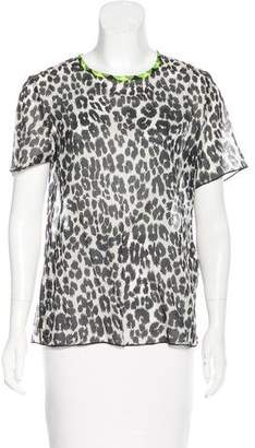 Marc Jacobs Leopard Print Short Sleeve Top