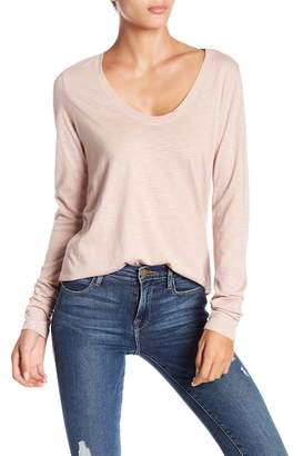 Susina Long Sleeve Scoop Neck Tee (Petite)