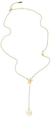 ADORNIA Libra Zodiac Lariat Necklace