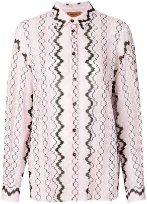 Missoni abstract print blouse