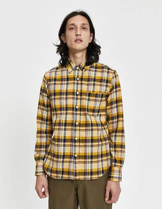 Rogue Territory Jumper Button-Down Shirt in Gold Neppy Plaid