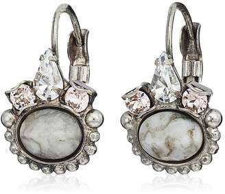 Sorrelli Sorelli Petite Oval Semi-Precious French Wire Drop Earrings