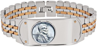 American Coin Treasures Men's Lincoln Steel Penny Bracelet